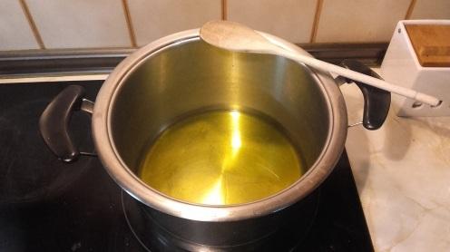 Calentar el aceite de oliva