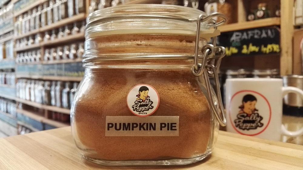 """Mezcla de especias """"Pumpkin Pie"""" con Canela, Jengibre, Nuez moscada, Clavo y Pimienta de Jamaica."""